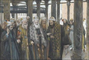 Some of the priests (Saducees) plotting against Yeshua